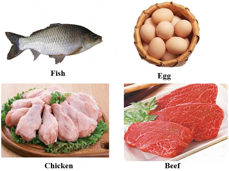 Eat more fish, eggs, chicken and beef.