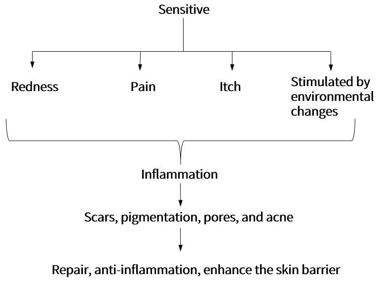 Sensitive skin solution framework