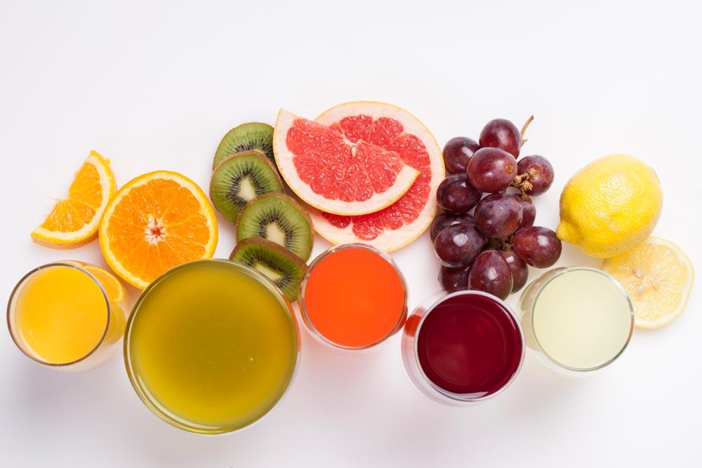 Vitamin C Foods, such as lemon, kiwi, navel orange, grapefruit