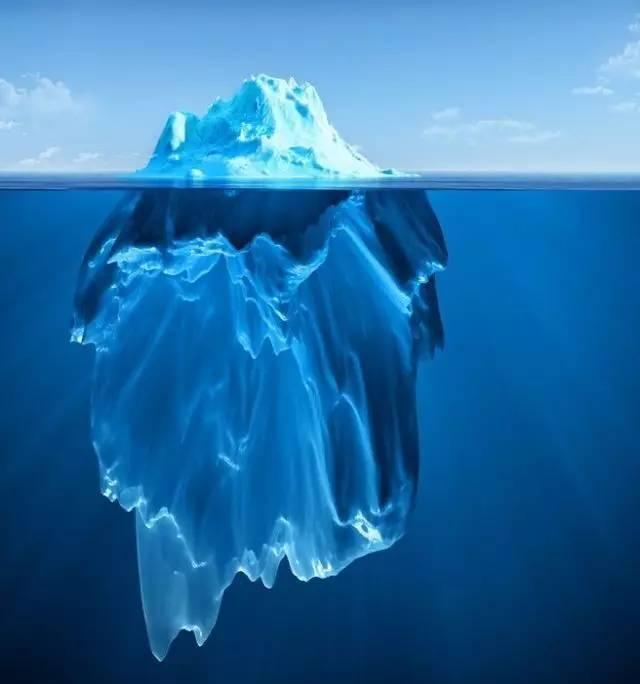 Oilyskinbeauty Iceberg hidden under the sea