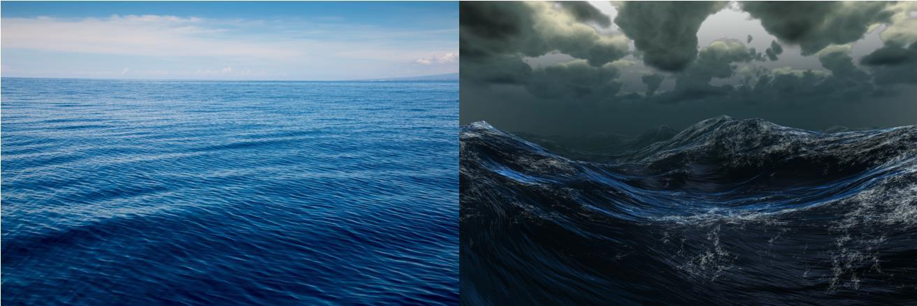 Oilyskinbeauty The rough sea and the calm sea